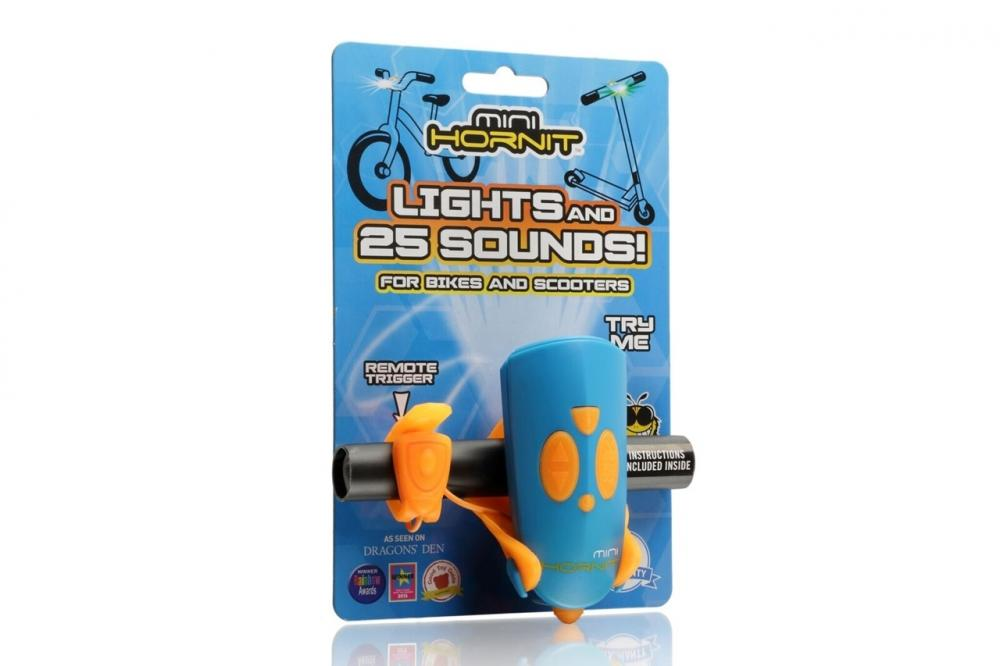 Claxon Mini Hornit cu lumina albastru si portocaliu