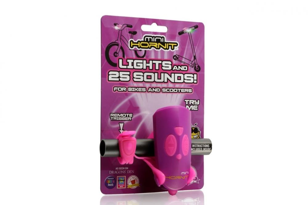 Claxon Mini Hornit cu lumina roz si mov