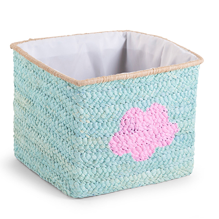 Cos de jucarii impletit 30x33x33cm Mint Star Cloud