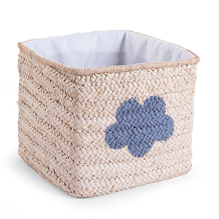 Cos de jucarii impletit 30x33x33cm Natural Star Cloud