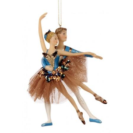 Cuplu balerini cosmatie paun tiul ornament