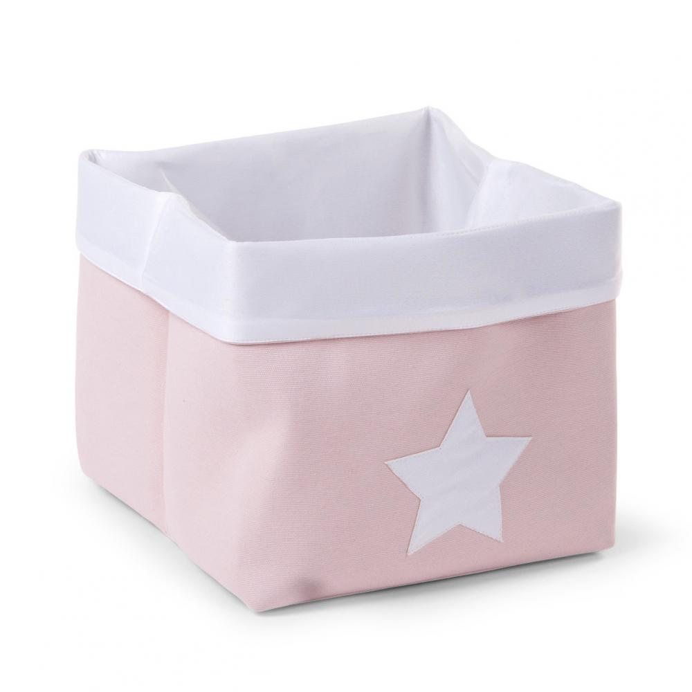 Cutie de depozitare pliabila din panza 32X32X29cm Soft Pink White