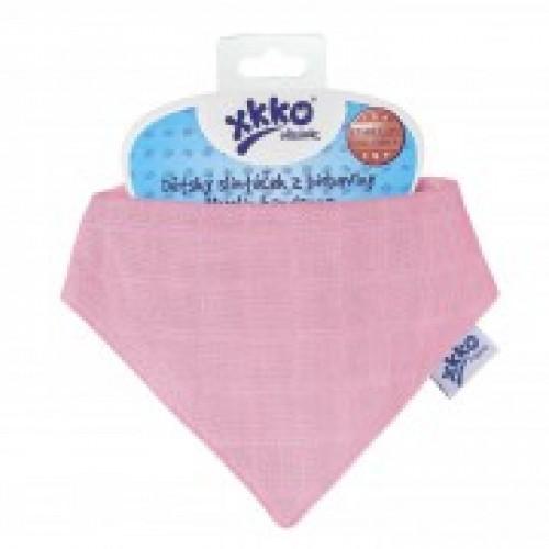 Esarfa din bumbac organic Light Pink XKKO