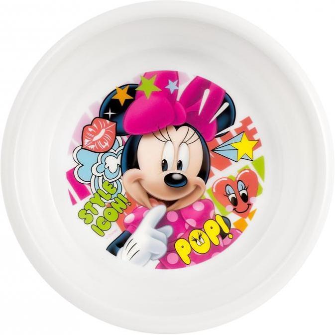 Farfurie adanca plastic Minnie Doodle Lulabi 8310302