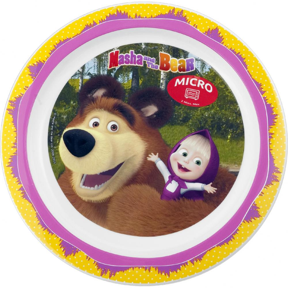 Farfurie plastic Masha and The Bear 22cm Lulabi 8053101
