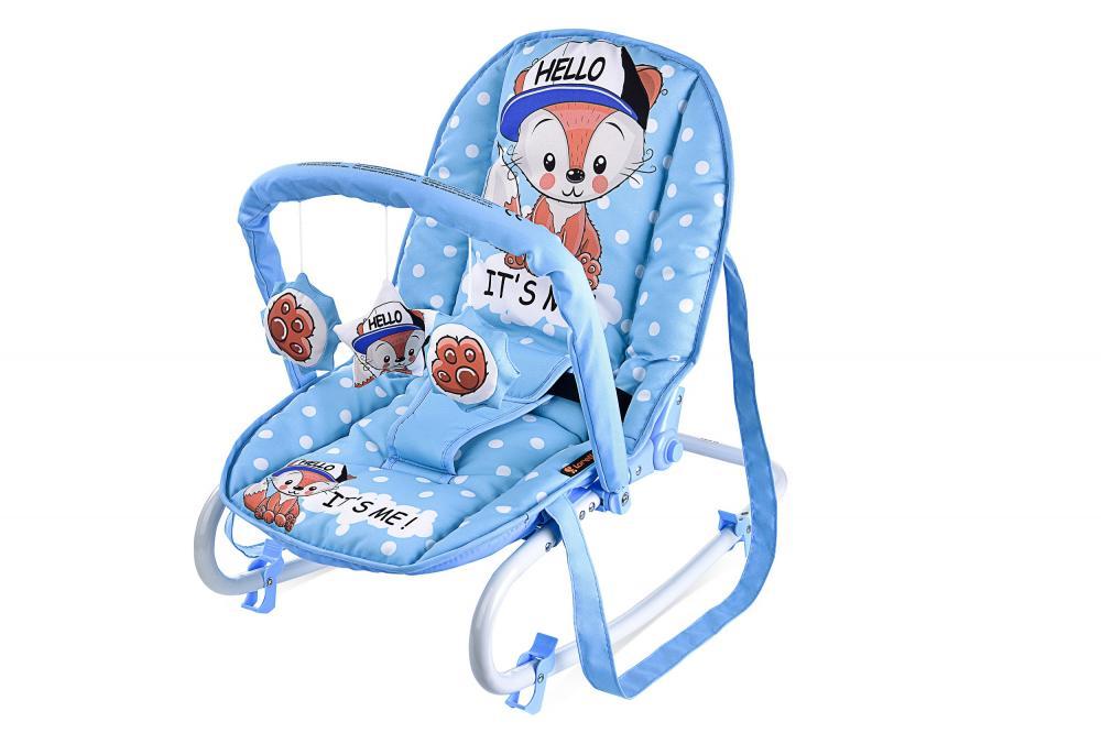 Fotoliu balansoar Top Relax Blue Baby Fox