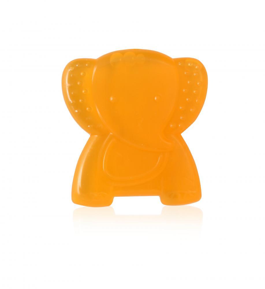 Jucarie refrigeranta si de dentitie Elephant Yellow