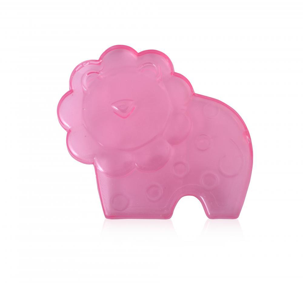Jucarie refrigeranta si de dentitie Lion Pink