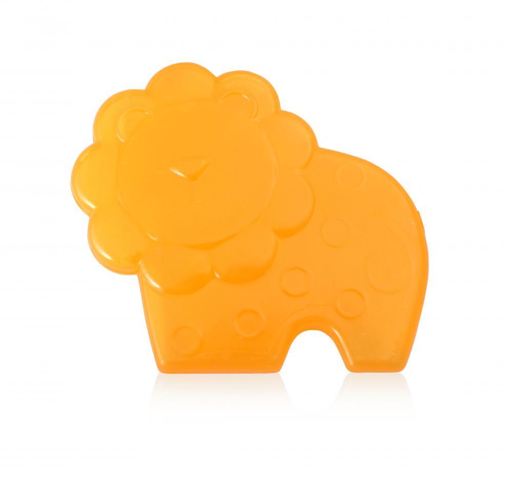 Jucarie refrigeranta si de dentitie Lion Yellow