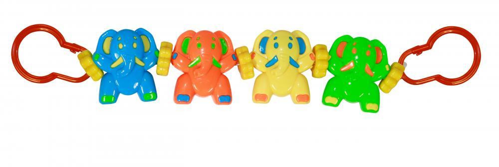 Jucarie zornaitoare de agatat la carucior Happy Elephants
