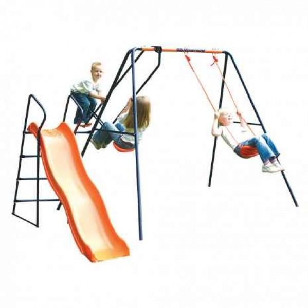 Leagan balansoar si tobogan MVS Saturn pentru copii combinate