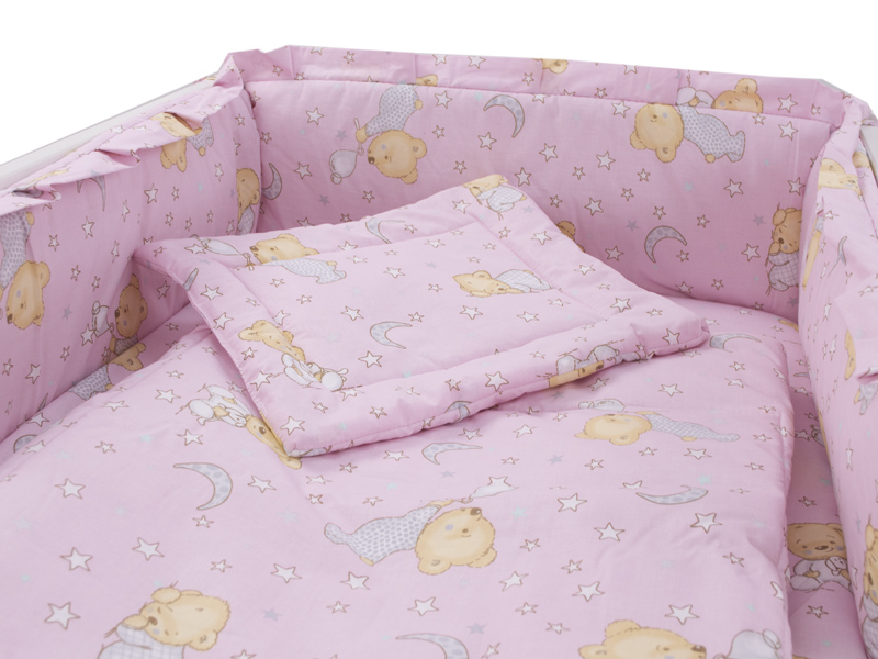 Lenjerie Teddy Steluta roz 4 piese M2 140x70
