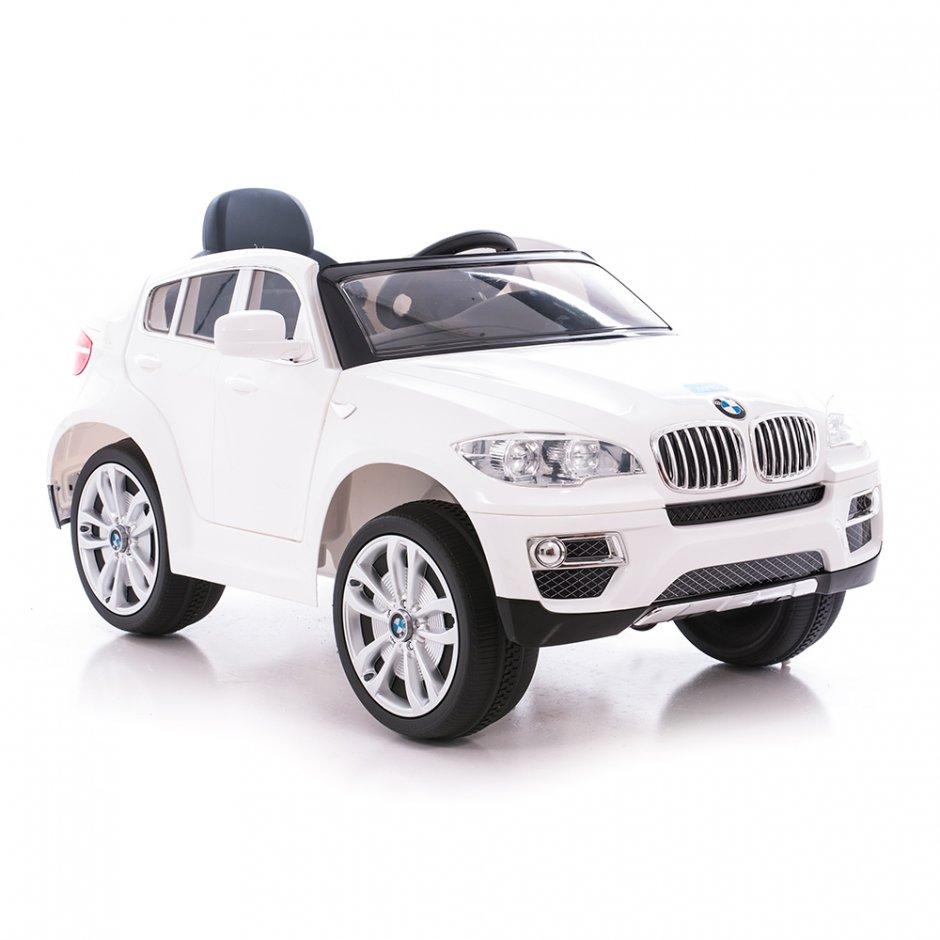 Masinuta electrica cu telecomanda si roti din cauciuc BMW X6 White