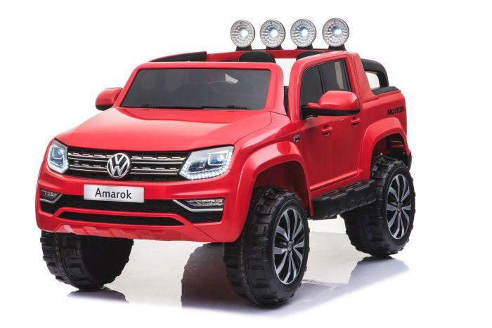 Masinuta electrica cu roti eva si telecomanda 2.4 G VW Amarok Rosu