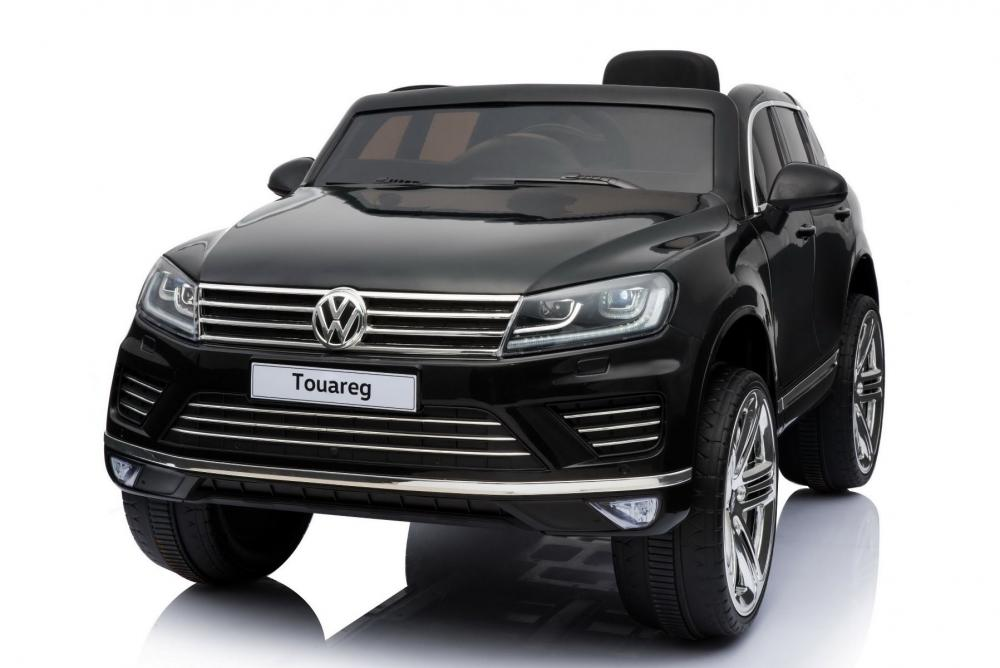 Masinuta electrica cu roti eva si telecomanda 2.4 G VW Touareg Black imagine
