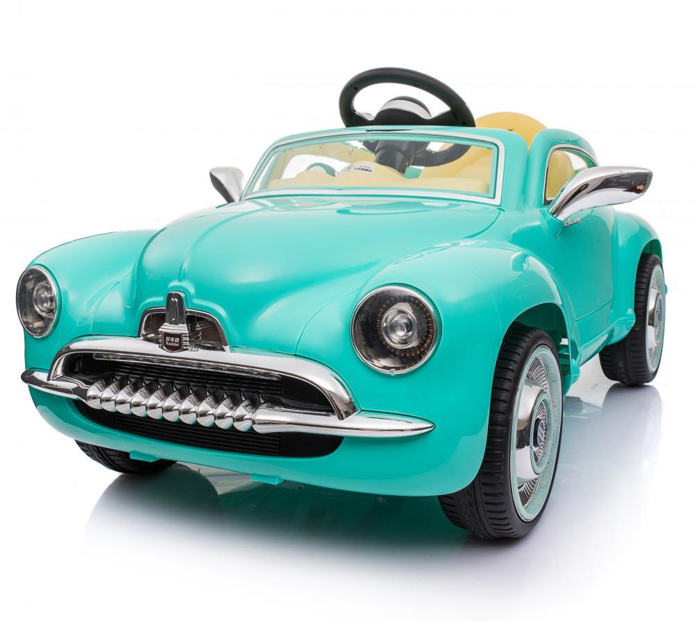 Masinuta electrica cu telecomanda 2.4 Ghz Vintage Car Blue