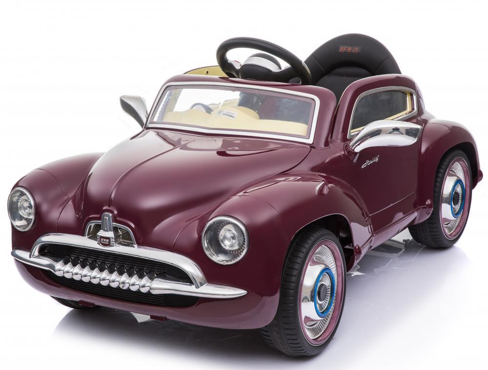 Masinuta electrica cu telecomanda 2.4 Ghz Vintage Car Red