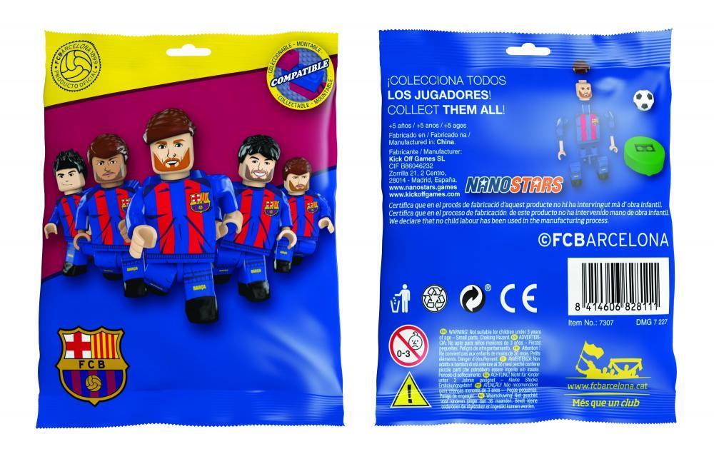 Nanostars Fc Barcelona figurine foil bag