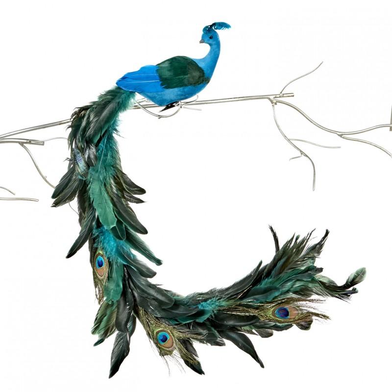 Paun decorativ 69 cm