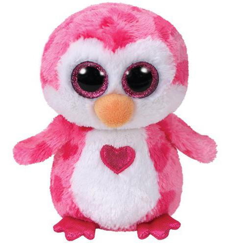 Plus pinguinul roz JULIET (15 cm) - Ty