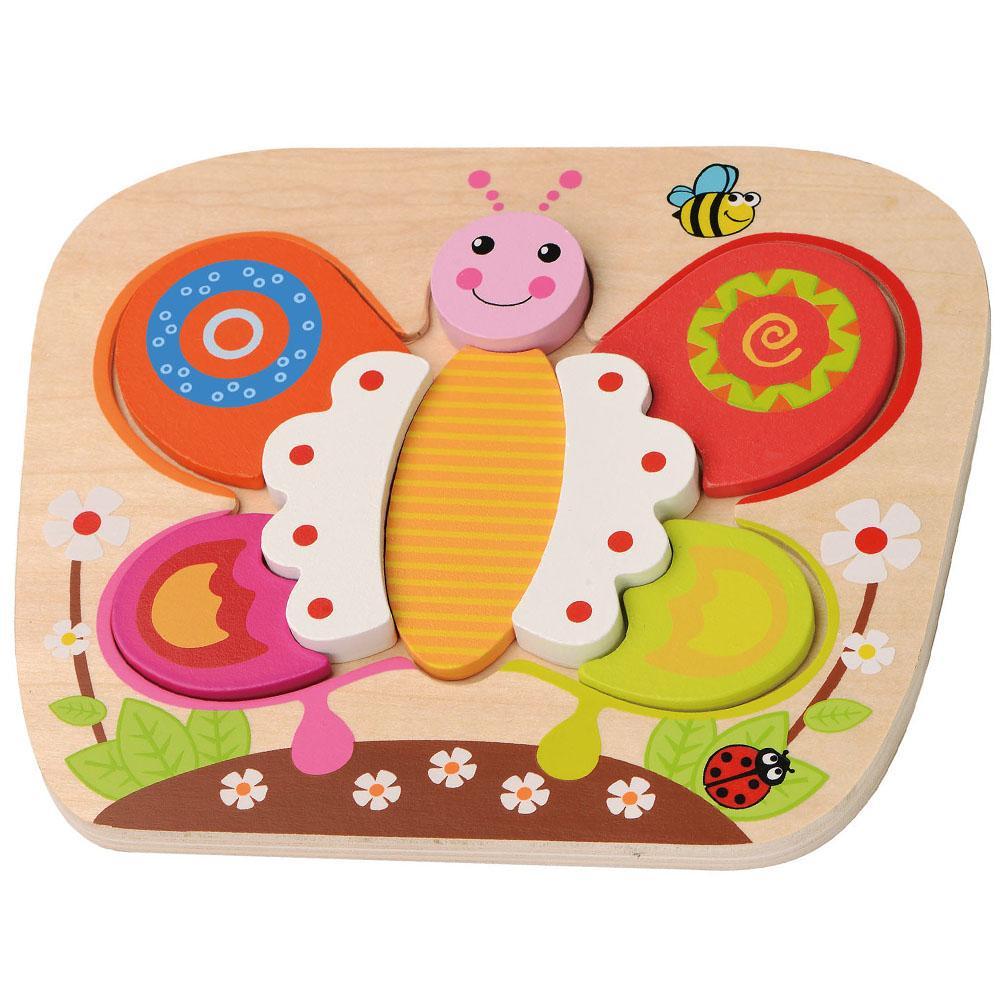 Puzzle din lemn Sun Baby Fluture