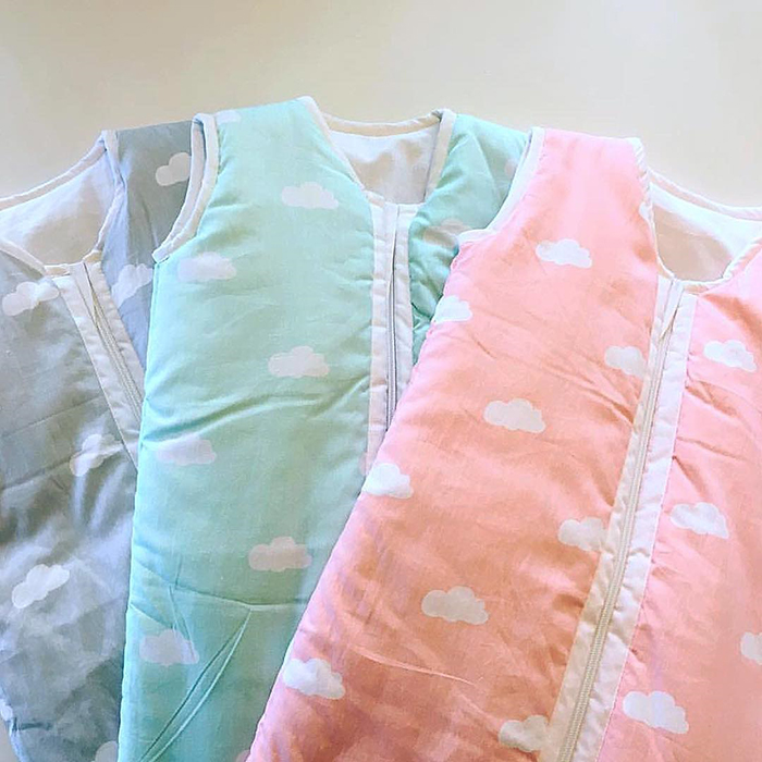 Sac de dormit bebe Snoozi Clouds Old Pink