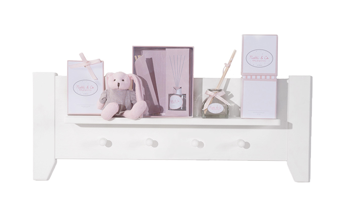 Saculeti parfumati Natti Co roz pentru camera bebe 6 bucati