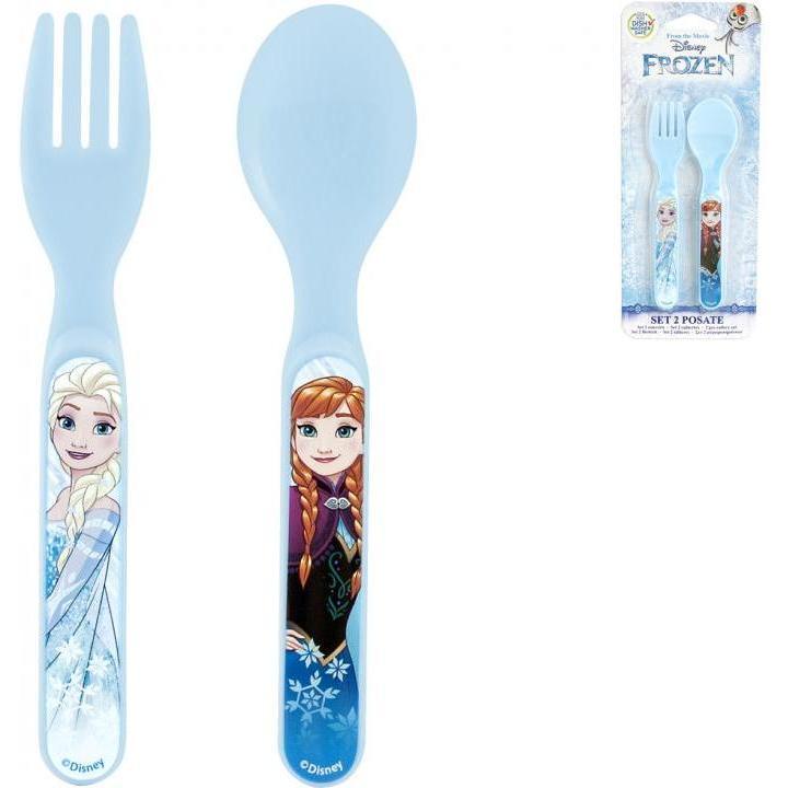 Set lingurita si furculita plastic Frozen Lulabi 8006300A
