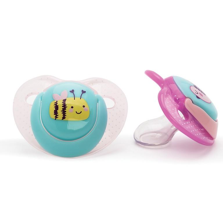 Suzete ortodontice 0 luni+ 2 bucati pentru fete Vital Baby