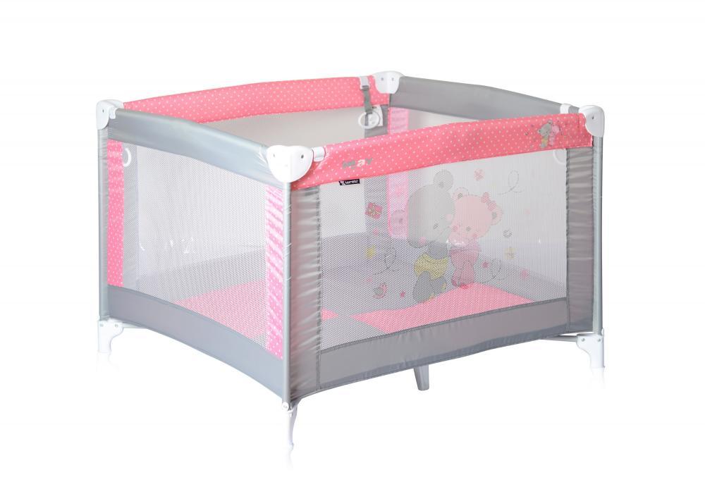 Tarc de joaca Play Grey Pink Za Za