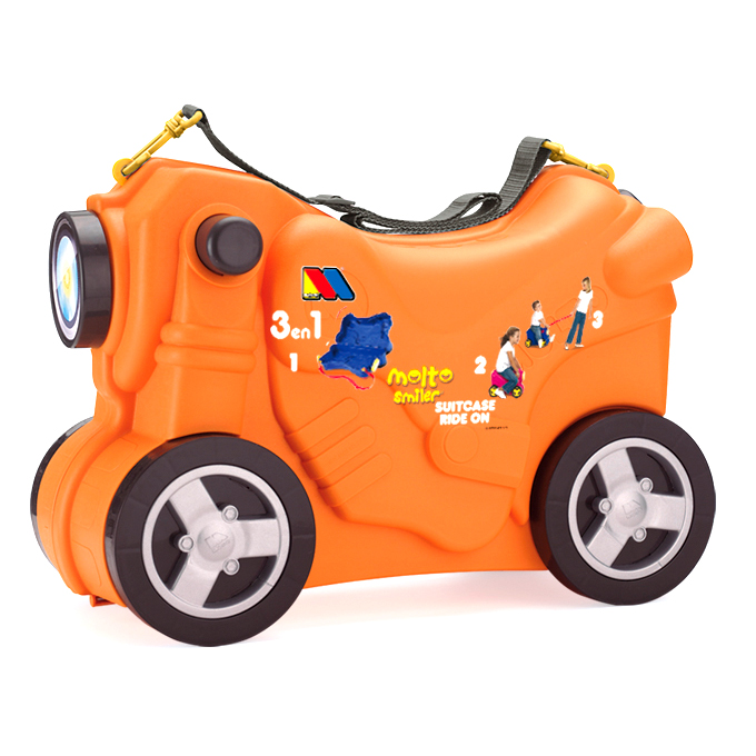 Valiza Ride-on Masinuta Deluxe 3 in 1 Orange