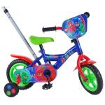 Bicicleta pentru baieti 10 inch cu maner roti ajutatoare PJ Masks