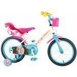 Bicicleta pentru fete 16 inch cu scaun pentru papusi roti ajutatoare si cosulet Soy Luna