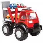 Camion cu platforma si 4 masinute Power Truck