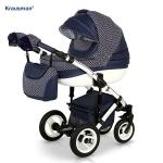 Carucior 3 in 1 Sendo White Navy