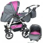 Carucior 3 in 1 Skutt Rocada Graphite/Purple
