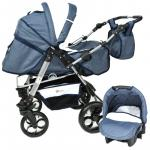 Carucior 3 in 1 Skutt Rocada Navy/White