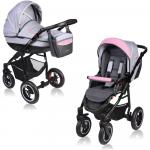 Carucior Crooner 2 in 1 Vessanti Pink/Gray
