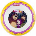 Farfurie adanca plastic Masha and The Bear Lulabi 8053102