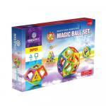 Joc magnetic educativ de constructie 3D Magspace 26 piese
