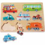 Joc tip puzzle 8 piese Lumea vehiculelor 12 luni+