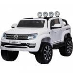 Masinuta electrica cu roti eva si telecomanda 2.4 G VW Amarok Alb