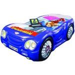 Pat masina Sleep Car Albastru