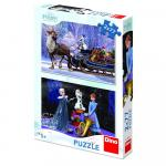 Puzzle 2 in 1 - Frozen (77 piese)