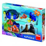 Puzzle 4 in 1 - Dory in marea aventura (54 piese)