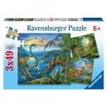 Puzzle Farmecul Dinozaurilor, 3x49 Piese