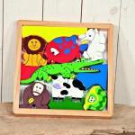 Puzzle animale din lemn