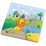 Puzzle cu doua fete Leul si prietenii sai 9 piese