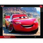 Puzzle cu rama - Fulger McQueen
