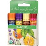 Set 4 balsamuri clasice de buze Green Kit Badger